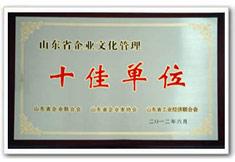 山东省企业文化管理十佳单位