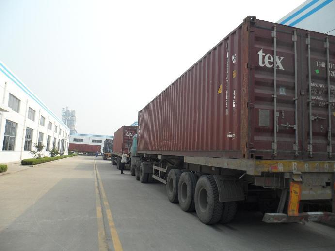 海汇集团出口印度的2000多吨输送线支架全部发货