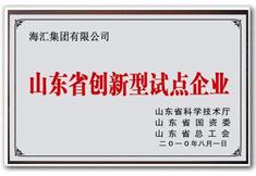 海汇集团为山东省首批创新型企业