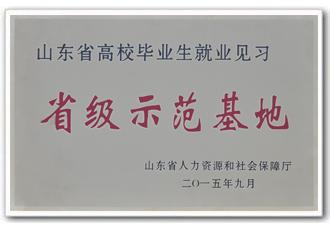 山东省高校毕业生就业见习省级示范基地