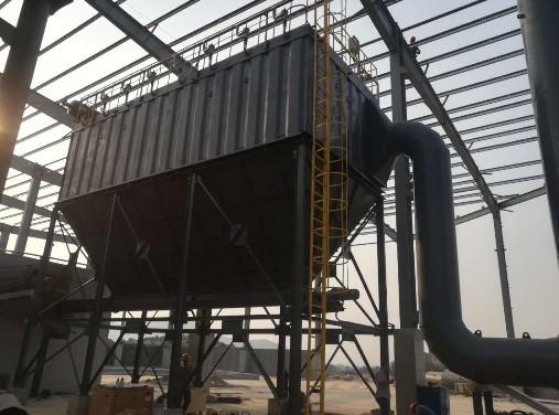 海汇集团为某钢铁集团设计制作的低压长袋脉冲袋式除尘器顺利安装完成