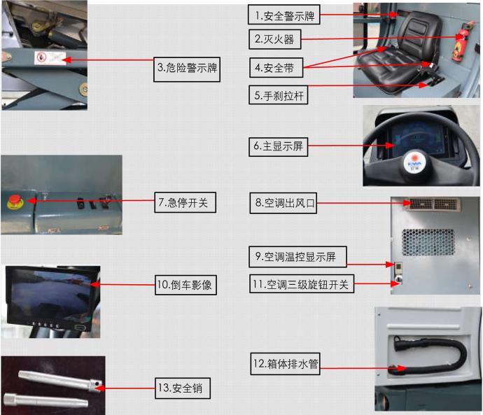 海汇亿华牌EW4DS1600新能源电动清扫车(电动扫地车)补充说明