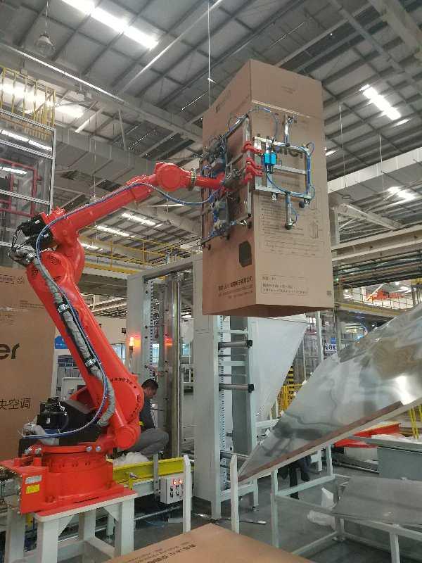 海汇集团承接的海尔卡萨帝多联机智能柔性生产线项目进入全线联机调试阶段