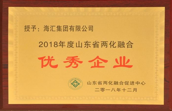 2018年度山东省两化融合优秀企业